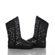 Ugg Women Jimmy Choo Short Studded 5829 Black #women #jimmy #ugg #choo