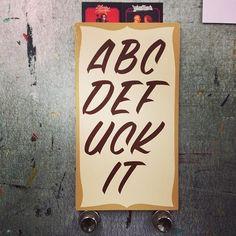 abcdefuck it #swear #type #alphabet #typography