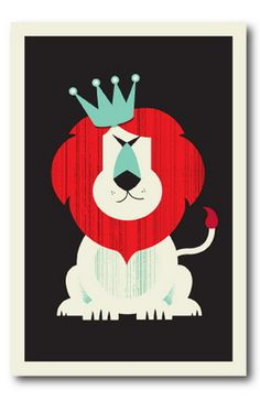 Lion by Vahalla Studios #illustration #lion #king #poster