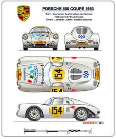 PORSCHE 550 Coupé #classic #racing #cars #Blueprint #sport #vintage #auto