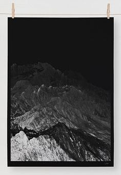 The Best Part - A Daily Art and Design Blog: Editions of 100 #photography #mountains #posters #blackwhite