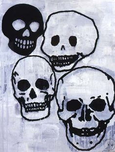 Donald Baechler | High-Hi #abstract #donald #illustration #skulls #baechler