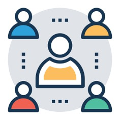 See more icon inspiration related to teamwork, job, interview, boss, meeting, human resources, people, reunion, networking, business and seo and web on Flaticon.