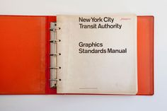 New York City Transit Authority Graphics Standards Manual #guidelines