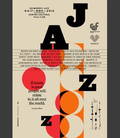 GUIMARÃES JAZZ 2012 on Behance #type #layout