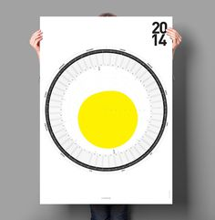 Circular Calendar #calendar #poster