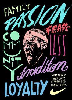 Hort versus Nike #lettering #illustration #nike #drawn #poster #hand #short #typography
