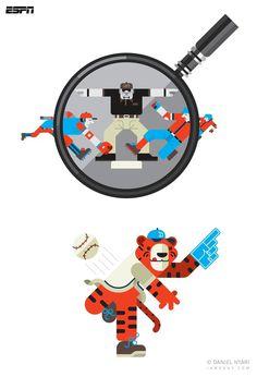 ESPN - Daniel Nyari Graphic Design & Illustration #daniel #nyari