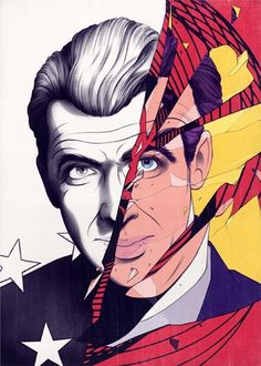 James Stewart Vertigo - Andrew Archer #illustration #art