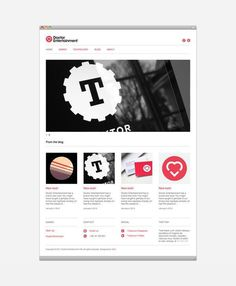 Doctor Entertainment on the Behance Network #website #grid #web #minimal