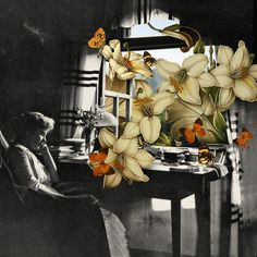 Hope Springs. #collage #flowers #black&white