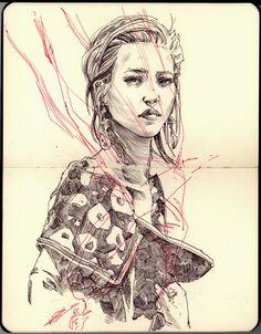 JOE WHYTE ILLUSTRATION #illustration #design #drawing #girl #moleskine