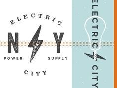 Electric city dribbble #bulb