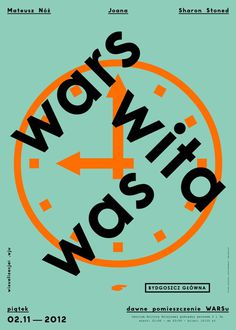 Wars Wita Was #bydgoszcz #pkp #poster #hard #poland #clock #macov #party