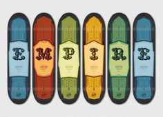 Empire Skate – Ornate Letter Series #design #graphic #skate #skateboard #typography