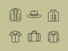 Mens garnments icons #icon #symbol #pictogram