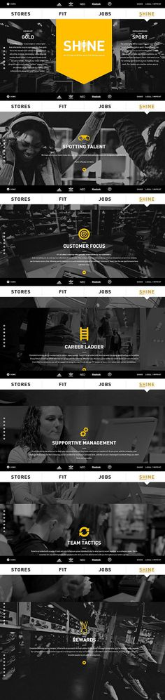 adidas-shine #web design #ui
