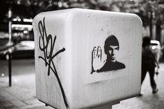 Spock   Shiro to Kuro #white #graffiti #black #trek #photography #star #and #spock