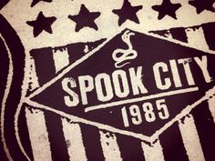 Spook City Shield #shield #print #clothing