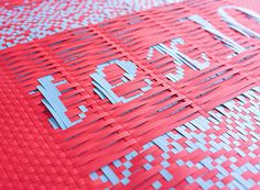 woven paper #weave #color #handmade #type