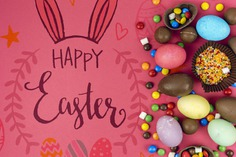 Happy easter day Free Psd. See more inspiration related to Mockup, Template, Typography, Chocolate, Spring, Celebration, Happy, Font, Holiday, Mock up, Easter, Drawing, Religion, Sweet, Egg, Painting, Calligraphy, Lettering, Traditional, Bunny, View, Up, Day, Top, Top view, Cultural, Tradition, Ears, Sprinkles, Chocolates, Mock, Seasonal, Bunny ears and Paschal on Freepik.