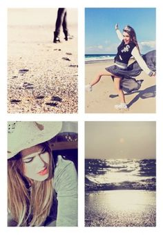 ELENA on the Behance Network #photography #desatured #beach #fine
