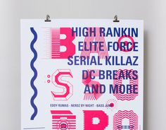 BASSODROME 2.0 #type #layout #poster