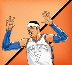 NBA Illustrations on Behance #carmelo #design #knicks #nba #illustration #anthony #poster #york #nyc #drawing #basketball #new