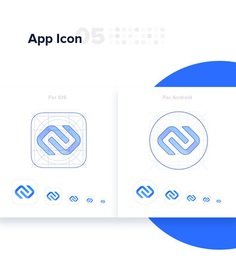 IronChain Logo and App Icons #logo #graphic #design