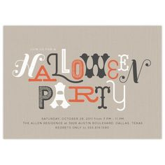 Halloween Party Invite #graphic design #design #typography #invitation #quality #craftsmanship