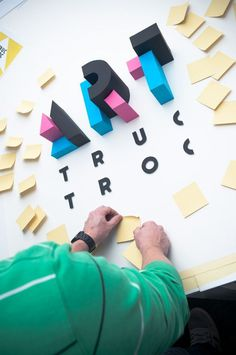 Art Truc Troc 2014 by INK studio #inspiration #lettering #design #paper #typography