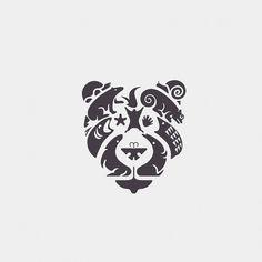 Bear and animals Logo design