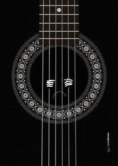 Freedom #illustration #poster #guitar #pattern #cell #prisoner