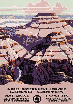 Grand Canyon National Park #arizona #grand #adventure #travel #park #national #wpa #poster #parks #canyon #desert