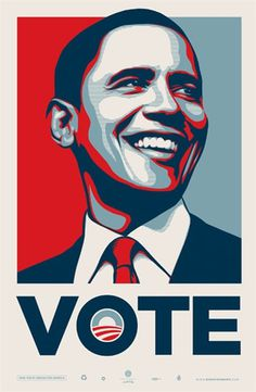 Vote Obama Artist Shepard Fairey Art Form Print
