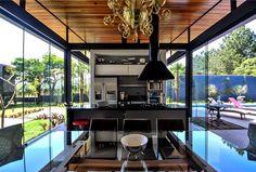 Brazilian House with Stylish Architecture and Rustic Materials island villa architecture #ideas #interior #kitchen #design