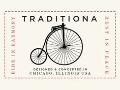 Dribbble - Traditiona Bike Patch by Luke Sedmak #chicago #penny #bicycle #fixed #farthing #gear