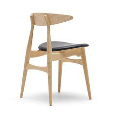 Carl Hansen - CH33, Eiche geölt / Leder schwarz (Loke 7150) - Einzelabbildung #chair