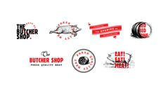The Butcher Shop by Alexandros Mavrogiannis #logo #butcher #pig