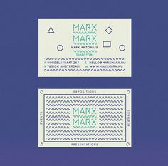 MARX MARX #business #branding #squiggle #identity #cards