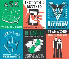 GOOD Magazine WPA Posters - DAN CASSARO - YOUNG JERKS - Design/Animation/Illustration #cassaro #nostalgia #dan #type #youngjerks