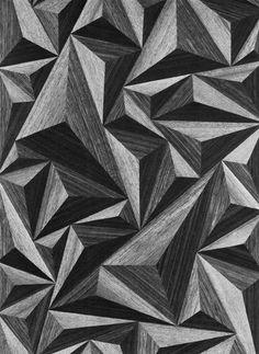 INTARSIA (WOOD VENEER PATTERN), 1960s #pattern #geometric