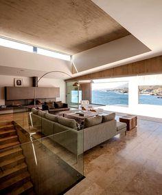 Fortress-Like Futuristic Concrete House - architecture, house, house design, dream home, #architecture #interior #homedecor