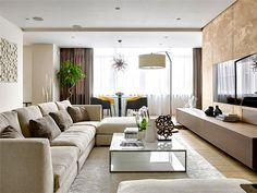 Luxury Moscow Apartment by Alexandra Fedorova - living room