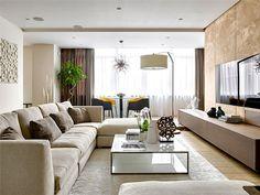 Luxury Moscow Apartment by Alexandra Fedorova - living room #interior #design #decor #living #home #room