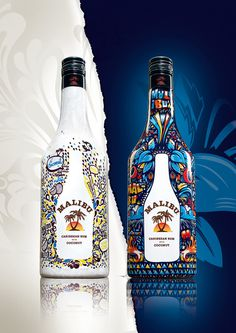 Malibu limited edition on the Behance Network #bottle #malibu #pack