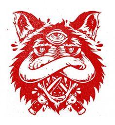 tumblr_lzeayigbDF1qz9v0to4_500.jpg (500×545) #crossed #switch #blades #color #eye #arms #third #wolf #one