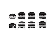 McDonald's Icon Exploration on Behance #mcd #mcdonalds #burger #cheese #fast-food #icons