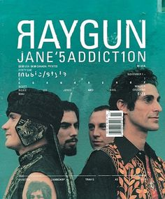 FFFFOUND! | Ray Gun Magazine Covers : Chris Ashworth #chris #addiction #janes #raygun #cover #ashworth #magazine #typography