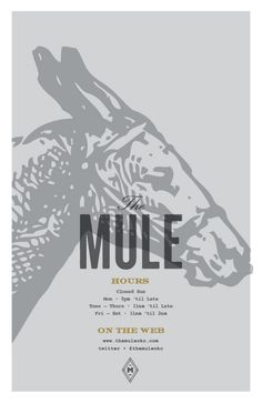 Art of the Menu: The Mule #print #identity